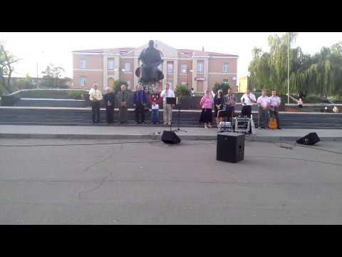 Молитва за україну. Міжконфесійне зібрання в м.Соснівка (ролик1).