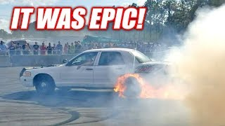 Project Neighbor Goes INSANE... Then Catches on Fire! (Cleetus and Cars FL Burnout Contest)