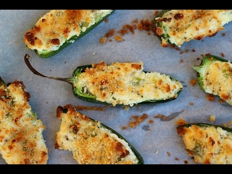 Appetizer Recipe: Three Cheese Jalapeno Poppers by CookingForBimbos.com