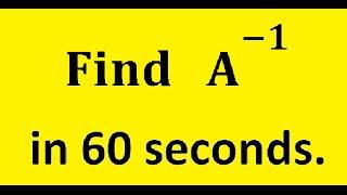 Shortcut Method to Find A inverse of a 3x3 Matrix