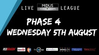 The MODUS ICONS OF DARTS LIVE LEAGUE - WEDNESDAY 5TH AUGUST