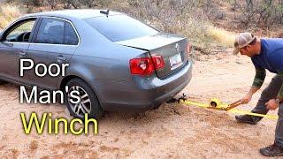 Poor Man's Winch - Using ratchet straps for winch duties