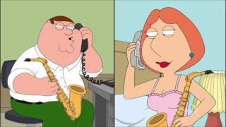 Peter & Lois Griffin Phone Sax