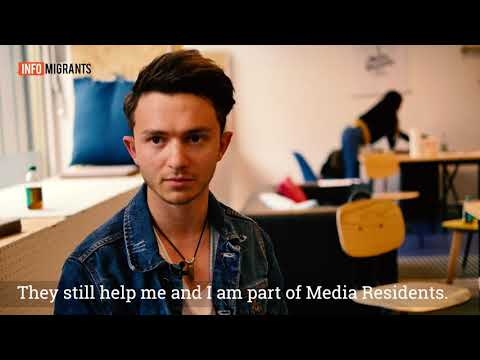 Omid, 19, is a refugee from Afghanistan and takes part in Media Residents trainings