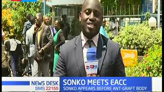 Nairobi Governor, Mike Sonko appears before the EACC