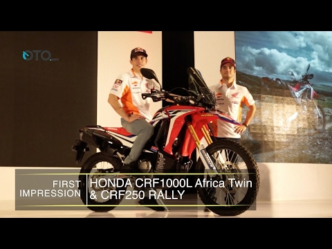 First Impression Honda CRF1000L Africa Twin & CRF250 Rally I OTO.com