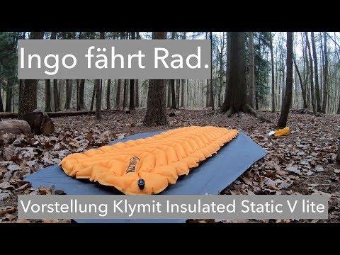 Vorstellung isolierte Luftmatte KLYMIT Insulated Static V lite