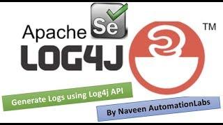 How to Generate Log Files in Selenium using Log4j API