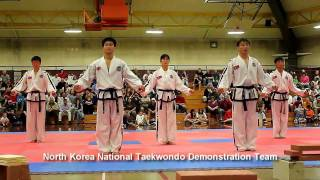 DPRK Taekwon-do ITF Demonstration Team.