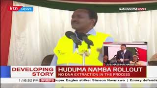 HUDUMA NAMBA ROLLOUT: Kalonzo Musyoka urges Murang'a residents to register