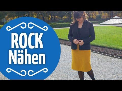Rock nähen // Bleistift-Rock für Anfänger