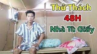 LamTV   Thử Thách 48H Trong Nhà Giấy Đầy Đủ Tiện Nghi | 48 Giờ Trong Nhà Tù Bằng Giấy