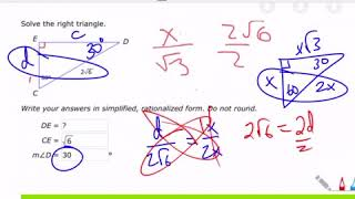 R.10 Help - Solving A SPECIAL Right Triangle