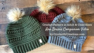 Ana Beanie Crochet Pattern Companion Video
