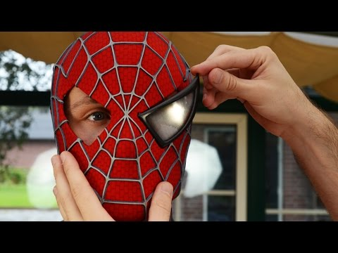 Video Spider-Man Magnetic Eyes Removal - 3D Printed Under Shell Mask