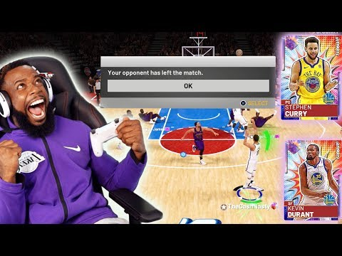 99 OPAL ULTIMATE CURRY AND DURANT MAKE OPPONENT QUIT! NBA 2K19