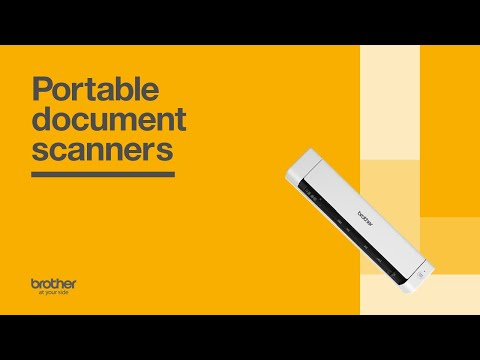 Brother Portable Document Scanners - Scan on the Go video thumbnail