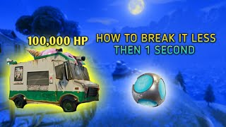 Destroying 100,000 HP Ice cream truck in Dusty Divot less than 1 second?! *NOT CLICKBAIT*-FORTNITE