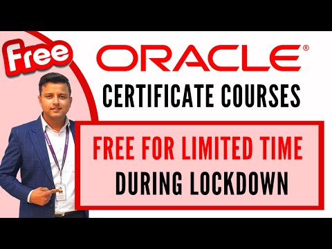 Oracle Certification Free | During Lockdown - YouTube