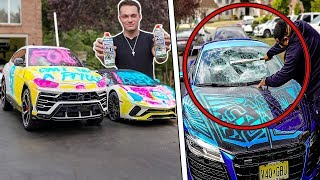 My R8 Windshield Was SMASHED! (Spray Paint Joke Gone Wrong)