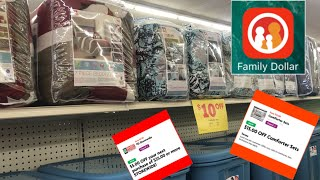 Deal Dead As Of 1-28//Get Your $5 Comforter Sets At Family Dollar Using All Digitals.