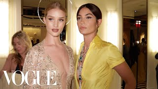 Supermodel-BFFs Lily Aldridge and Rosie Huntington-Whiteley Get Ready for the Met Gala | Vogue - Video Youtube