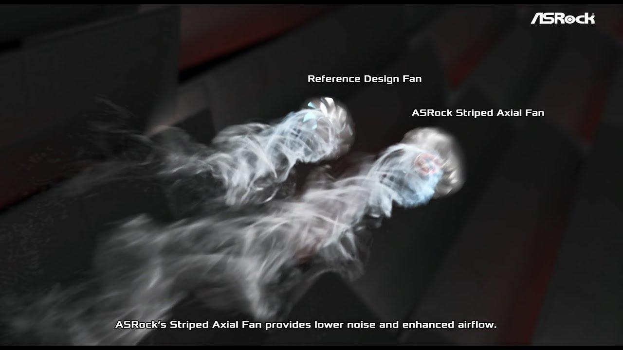 VGA Striped Axial Fan