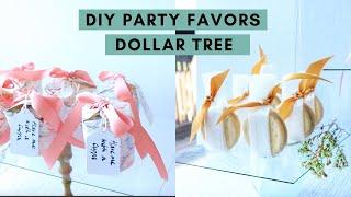 4 DIY Party Favors | Dollar Tree | Baby shower, Wedding, Birthday