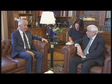 Συνάντηση του Προέδρου της Δημοκρατίας με τον γγ του Συμβουλίου της Ευρώπης, Τουρμπγέρν Γιάγκλαντ
