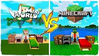 ¡MINI WORLD VS MINECRAFT EN EL MUNDO DE LOS ALMENDRUQUIS!