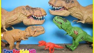 Videos de Dinosaurios para niños🐊Juguetes de Dinosaurios T-Rex🐊Colección de Dinosaurios de juguete