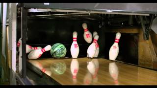 Slow Motion - Bowling Pins Fall
