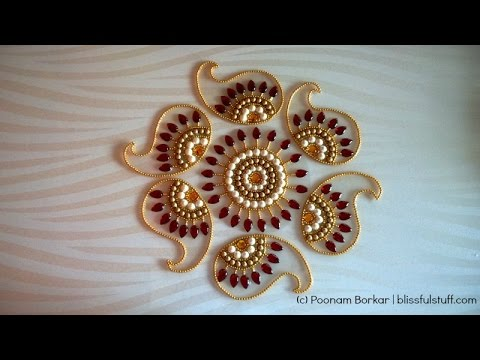 tutorial for making kundan rangoli design by poonam borkar
