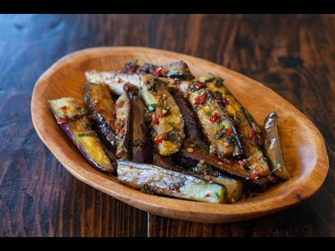 Video Chinese Eggplant with Spicy Garlic Sauce Recipe