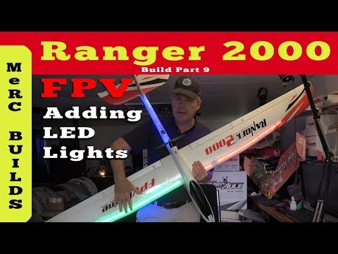 volantex-ranger-2000-part-9--putting-led-lights-on-wings-and-in-fuselage-for-night-flying