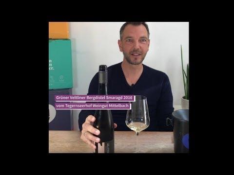 "9Weine Gründer Herbert präsentiert den ""Grüner Veltliner Bergdistel Smaragd 2016"""