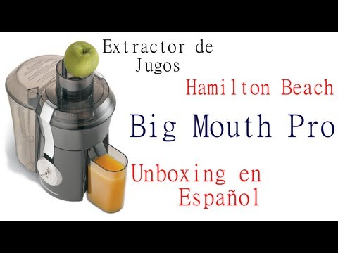 Extractor de Jugos Hamilton Beach Big Mouth Pro - Unboxing en Español