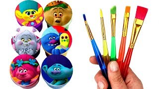 Dreamworks Trolls Drawing and Painting with Surprise Toys Poppy Branch Biggie Bridget Prince Gristle