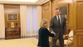 Su Majestad el Rey recibe a Doña Ana María Oramas, de Coalición Canaria-Nueva Canarias