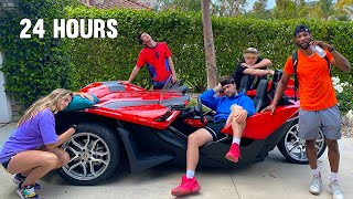 LAST TO REMOVE HAND, WINS SPORTS CAR! *24 Hour Challenge*