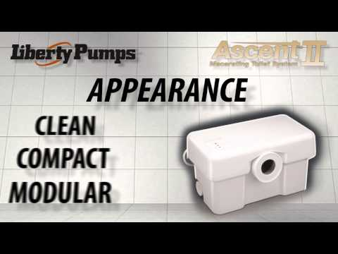 Liberty Pumps Ascent 2 Macerating Toilet System