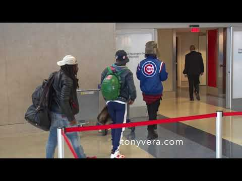 Jeremih on the move at Los Angeles International Airport
