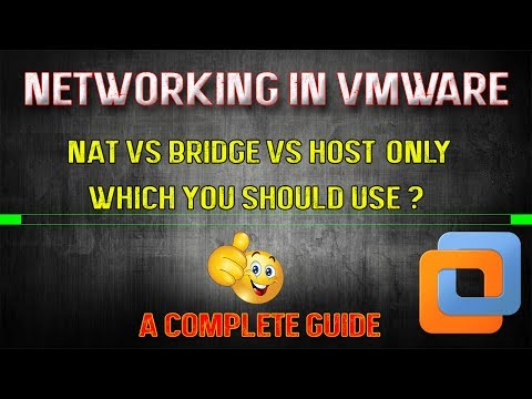 Networking In Virtual Machine [VMWare] Explained | NAT Vs BRIDGE Vs HOST-ONLY
