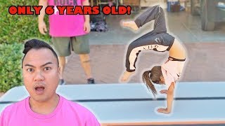 6 YEAR OLD AVA TEACHES NEW CRAZY FLEXIBLE GYMNASTIC MOVES! (PART 5!)