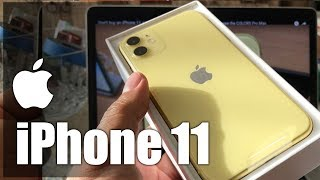 iPhone 11 Yellow 64GB Unboxing & Fast Setup MWLA2LL/A A2111 Factory Unlocked