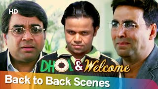Dhol & Welcome - Back 2 Back Hindi Comedy Scenes | Rajpal Yadav - Akshay Kumar - Paresh Rawal