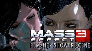 Mass Effect 3 - Lesbian Shower Sex Scene