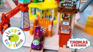 Thomas and Friends   Thomas Train RARE Pixar Cars Mater's Tow Yard   Fun Toy Trains
