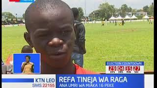 Lawrence Ishuga akuwa refa tineja wa raga kwa michuano ya Prinsloo 7's Nakuru