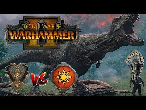 Tomb Kings vs Lizardmen | JURRASIC PURSUIT - Total War Warhammer 2